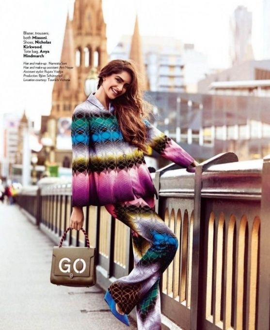 Sonam Kapoor #photoshoot for Vogue December 2015.