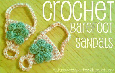 Tutus and Tea Parties: Crochet Barefoot Sandal {Free Crochet Pattern}