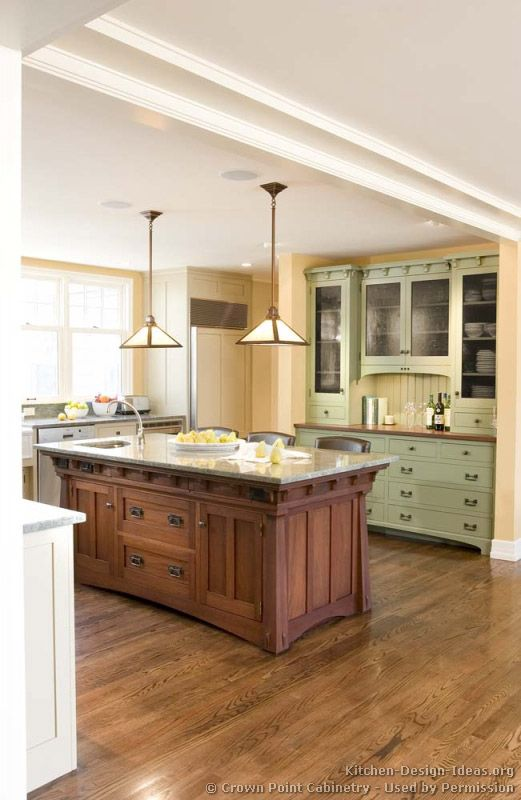Craftsman Kitchen© Crown Point Cabinetry (crown Point.com). Used By  Permission.
