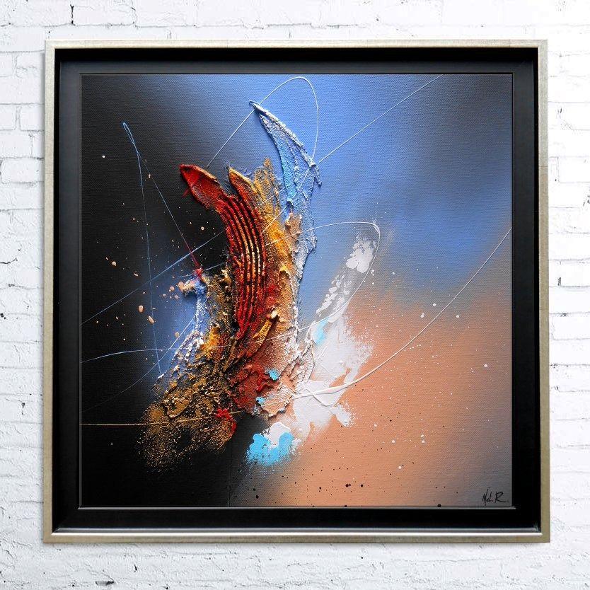 Tableau Abstrait Contemporain Peinture Encadree Toile Acrylique