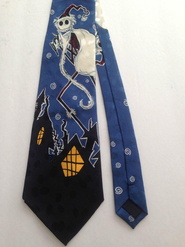3e26dcd5fbb1 Vintage 90's Nightmare Before Christmas Men 100% Silk Tie Jack Skellington  Santa #Disney #NeckTie