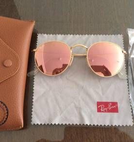 Ray Ban Jhon Lennon Rb3447 Dourado Lentes Rose Espelhado   Glasses    Pinterest   Wardrobes and Clothes 8816df742f