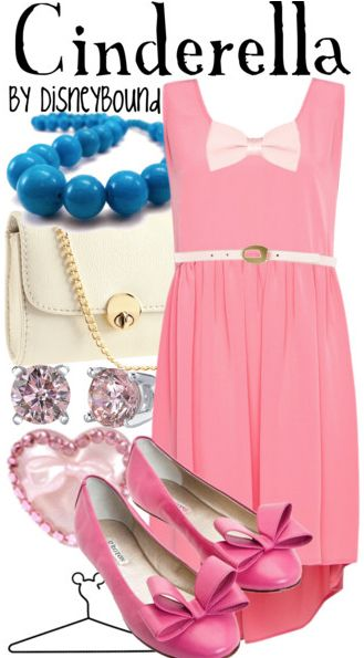 This Cinderella inspired Disneybound is so sweet and feminine!! The pink flats are to die for!! ♥