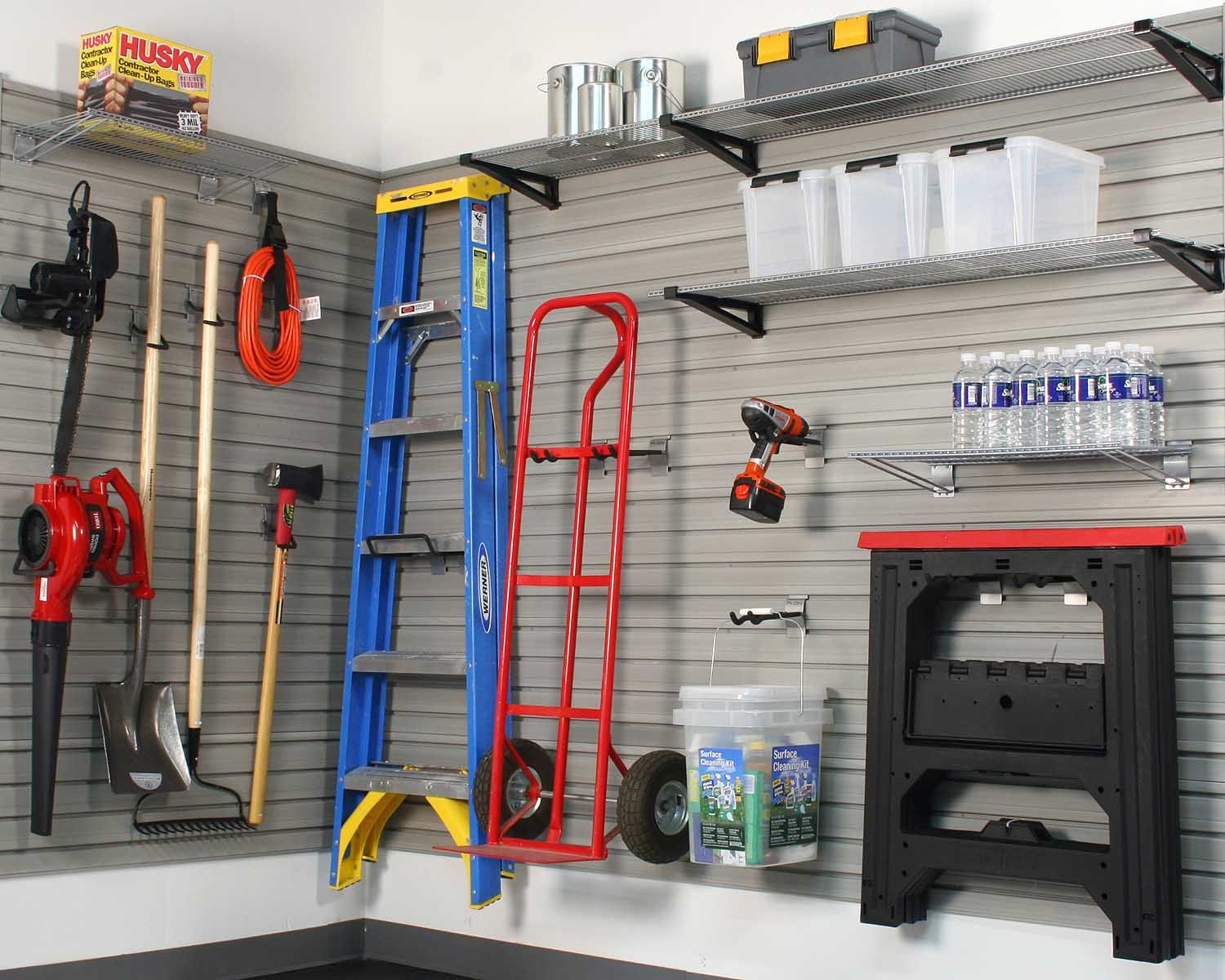 Garage Slat Wall For The Home Garage Wall Storage