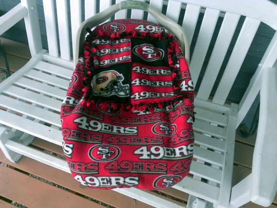 San Francisco 49ERS Baby Carrier Car Seat Cover NFL By Lindasnd 5000