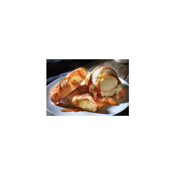Applebee's Apple Chimi Cheesecake ❤ liked on Polyvore featuring home and kitchen & dining