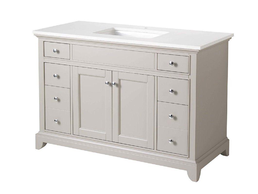 """Edgar 49"""" Single Sink Bathroom Vanity Set   Single sink ..."""