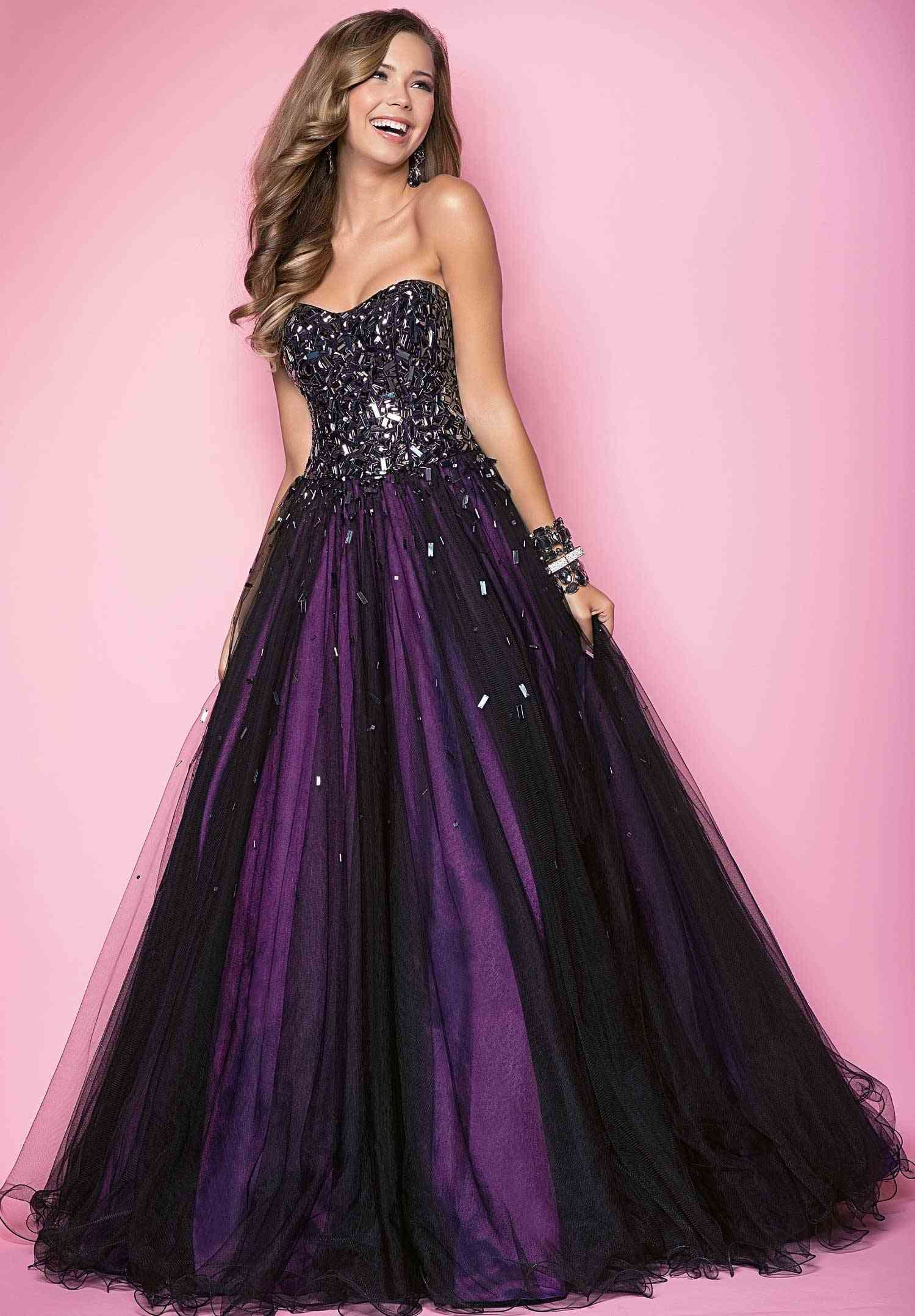 Purple And Black Evening Gown Purple A Favorite Color Of Mine