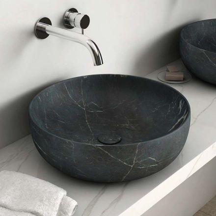 Vasque A Poser En Marbre Noir 42x14 Cm Avec Bonde Vesco Vasque Salle De Bain Vasque Salle De Bain
