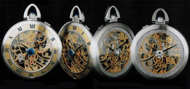 Bunz platinum and diamond pocket watch