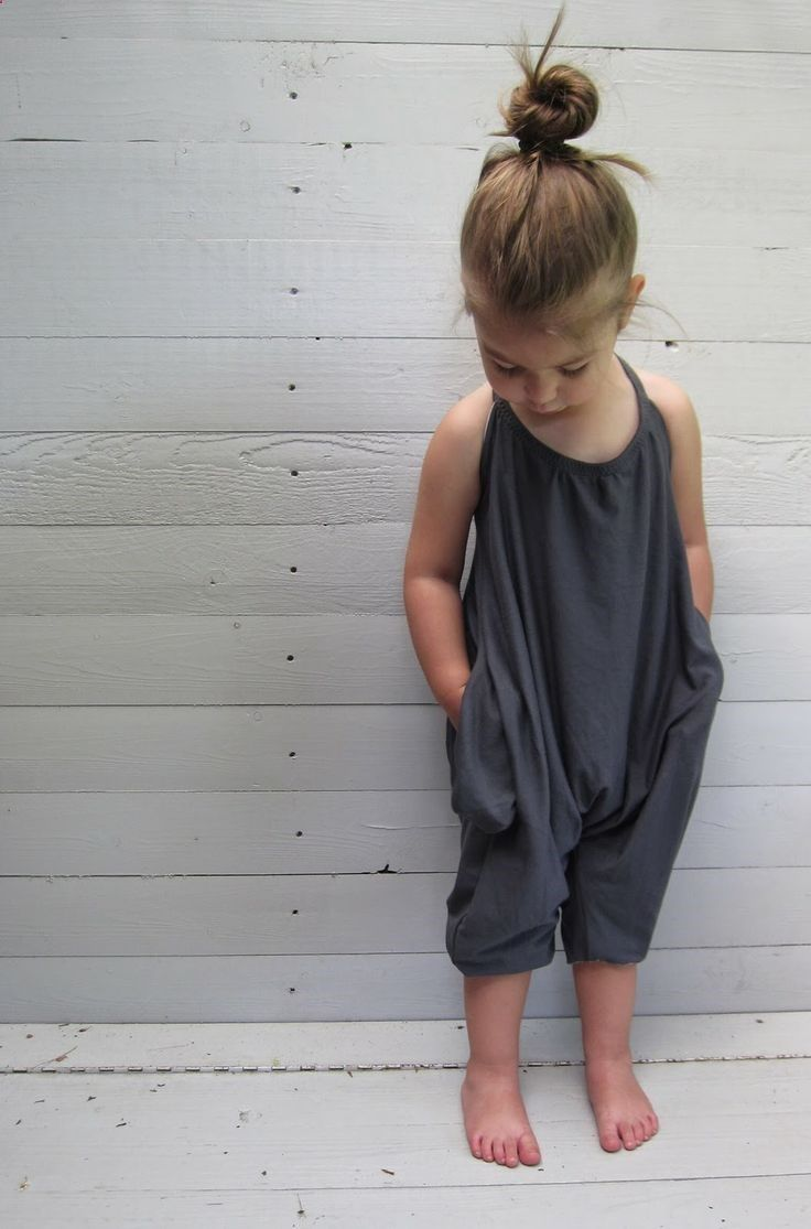 Jumpsuit and top knot.