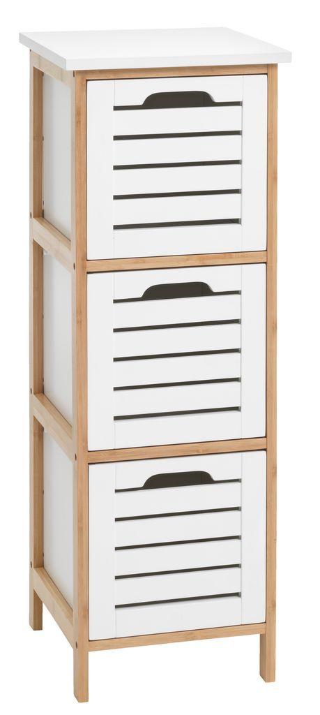 Bathroom Cabinets Jysk komód broby 3 fiókos bambusz/fehér | jysk | megveszem emlékeztető