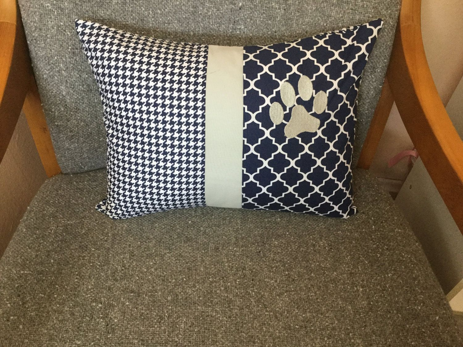 """Paw Print Decorative Pillow Cover-12"""" x 16"""" by Carolsues on Etsy"""