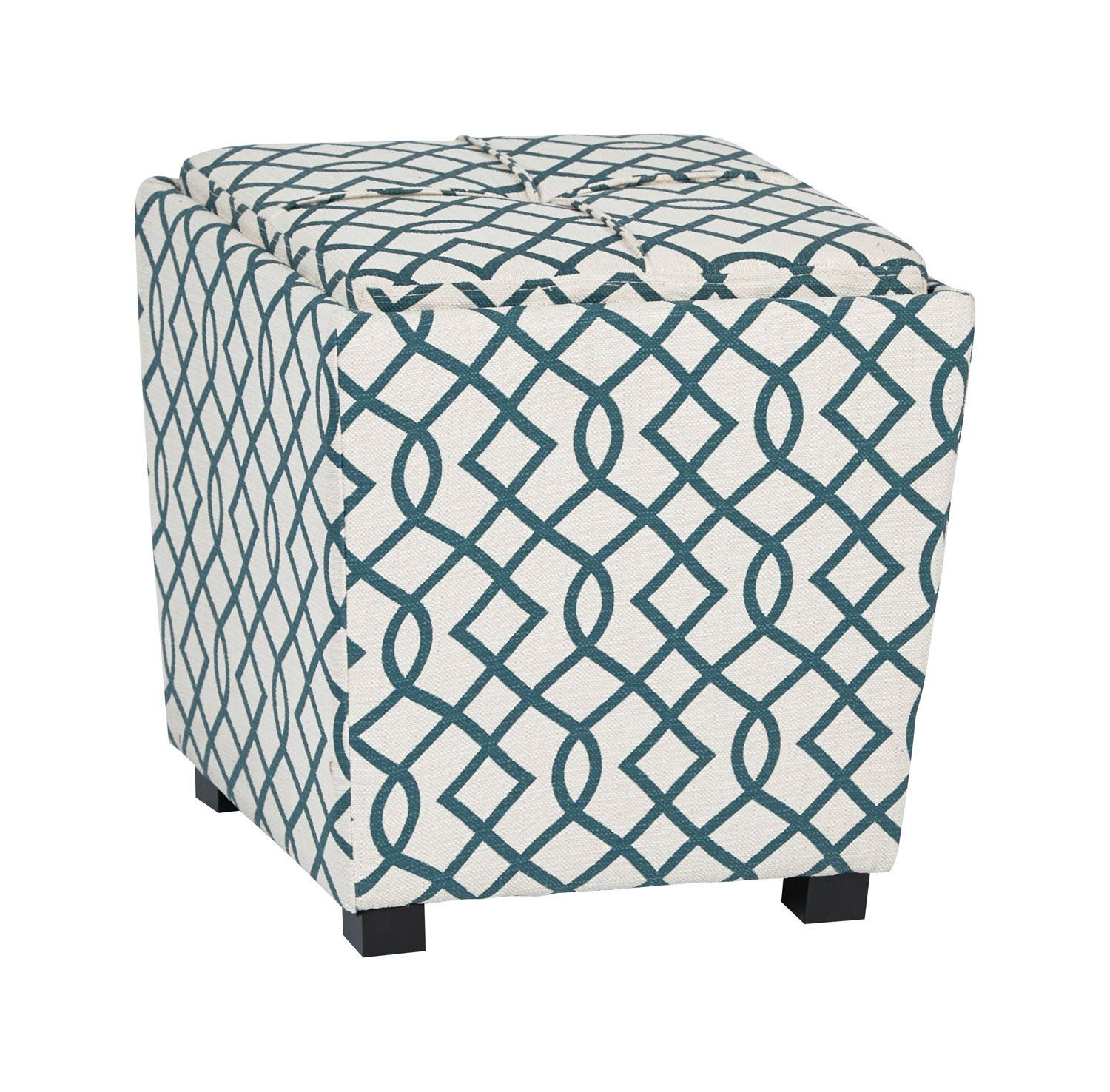 Osp Designs Furniture Decor 2 Piece Ottoman Set With Tray Top In