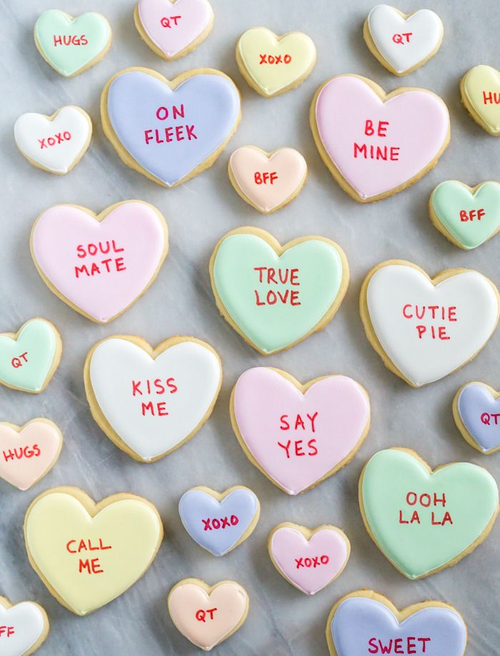 Xoxo Conversation Heart Cookies Holiday Sweets Eats Cookies