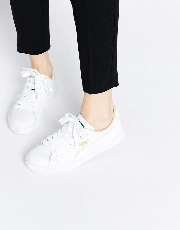 Puma Basket Classic White Sneakers