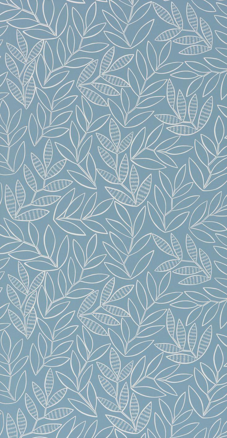 Lauras China Blue Wallpaper