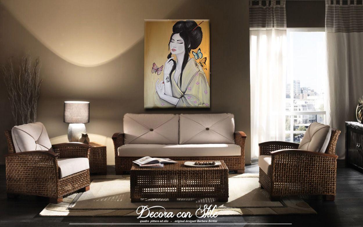 Arredamento Bambù ~ Arredamento etnico con quadri www.barbarabertini.it #home living