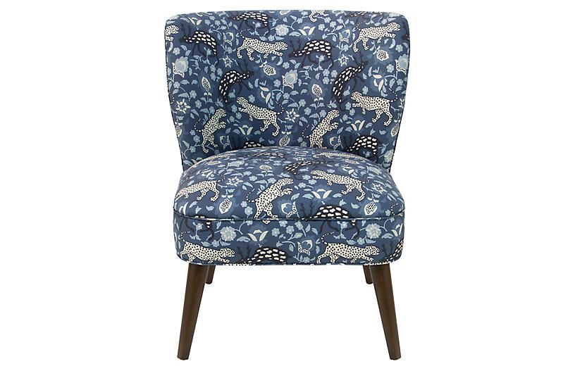 Bailey accent chair leopard blue accent chairs armless