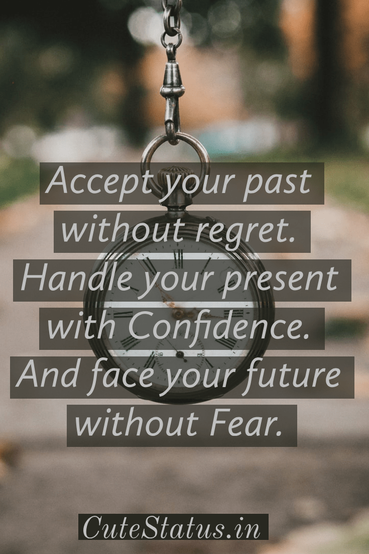 Accept Your Past Without Regret Handle Your Present With Confidence And Face Your Future Without Fear Good Life Quotes Life Quotes Positive Quotes For Life