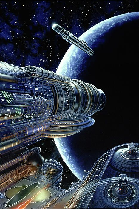 Don Dixon cover art for Isaac Asimov's Foundation Trilogy. / HUMANOID HISTORY