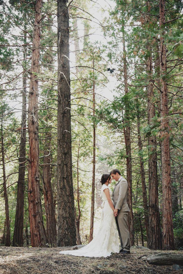 Derek Danielle San Bernardino Forest California Wedding