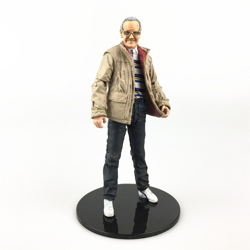 Stan Lee Action Figure Status Head Glasses Thor Captain America Iron man Marvel