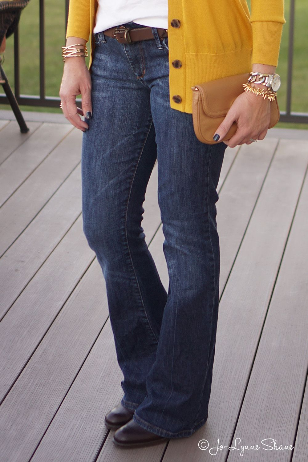 Bootcut jeans with ankle boots