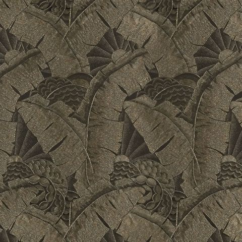 Coco De Mer - Tarnished Gold - One Fifth - Fabric - gorgeous drapes or cushions material travel deco vibe