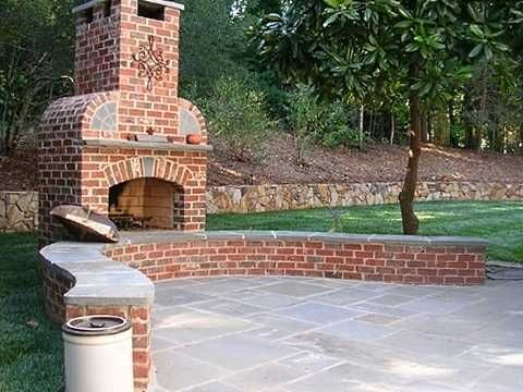 Standout Outdoor Brick Fireplaces Delectable Decorative