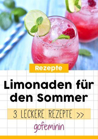 Wir ❤ spritzige Sommerlimonaden! Diese 3 Rezepte MÜSST ihr testen #lemonade