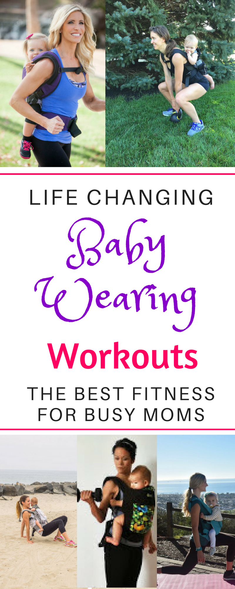 A babywearing workout is the perfect way for mom to exercise post pregnancy and stay fit Baby wearing work outs are the perfect way to lose weight post partum for new mom...