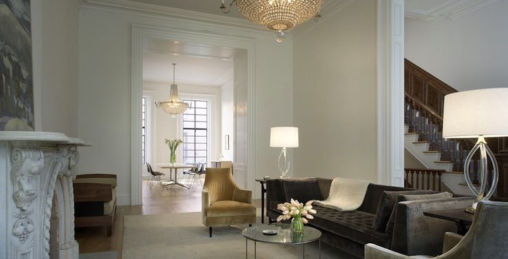 Suzie Rees Roberts Chic Contemporary Living Room With