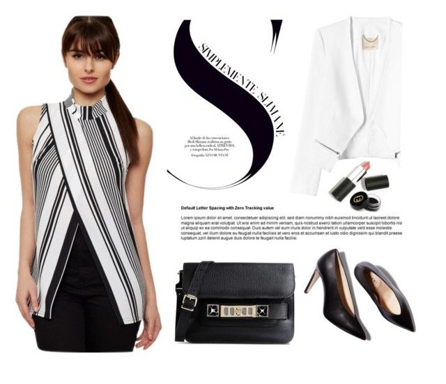 """""""Simple&Chic"""" by wearall ❤ liked on Polyvore featuring Proenza Schouler, Rebecca Taylor, Sigma Beauty and Gucci"""