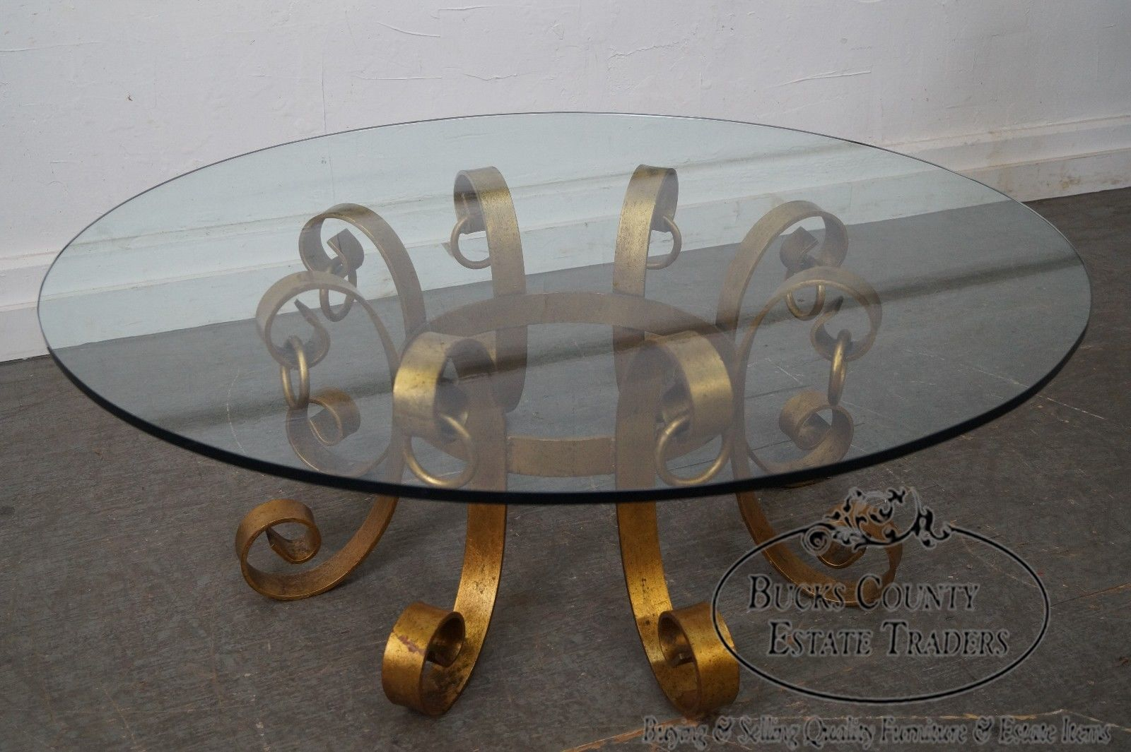 Hollywood Regency Gilt Metal Round Glass Top Coffee Table Ebay Glass Top Coffee Table Glass Top Brass Coffee Table [ 1065 x 1600 Pixel ]