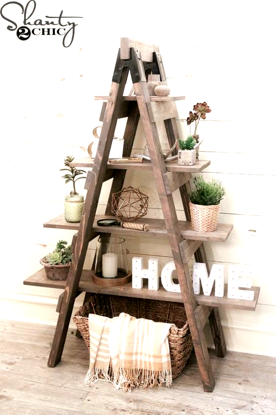 The Best Outstanding Cheap And Easy Diy Ideas Thatll Change In 2020 Wood Ladder Decor Diy Rustic Decor Ladder Decor