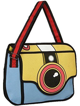 Newtripod Style 2d Drawing Cartoon Paper Bag Comic Messenger For Women And S Satchel Handbags With Shoulder Wide Strap School Crossbody