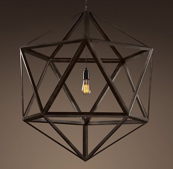 Triangular steel pendant restoration hardware lighting large pendant lighting mozeypictures Gallery