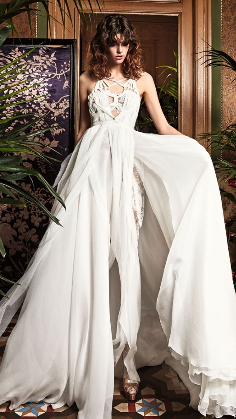 Image result for yolancris new bridal collection lace high