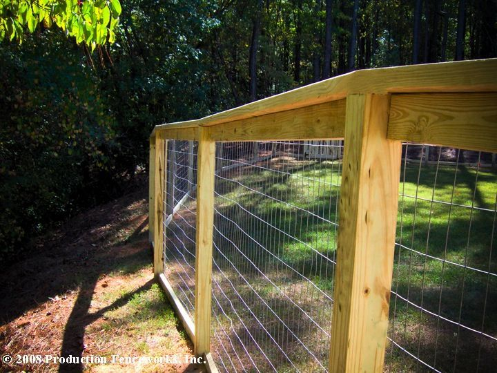 wood framed wire fence | residential fencing scout fencing company ...