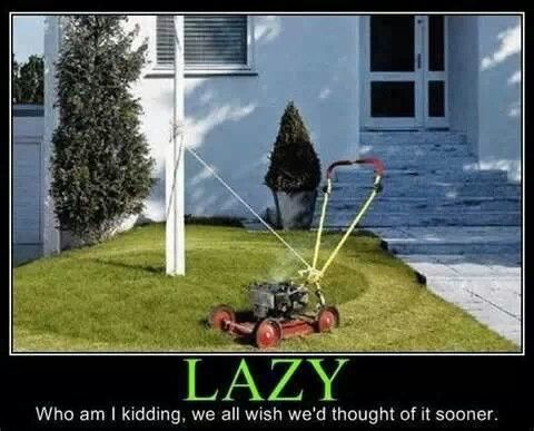 Lazy Lawn Mowing Lazy People Bones Funny Funny