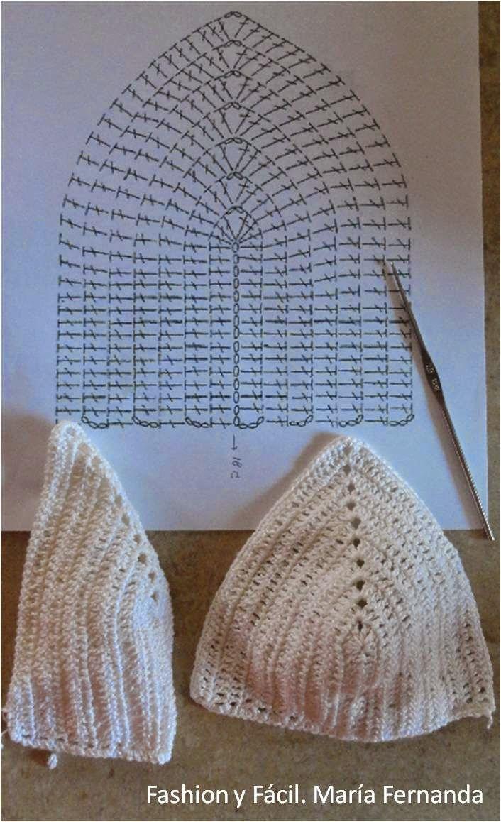 Fashion y Fácil DIY: ¿Cómo tejer unas copas para hacer un top para el verano? Tejido a ganchillo fácil (How to make a crocheted top for the summer)