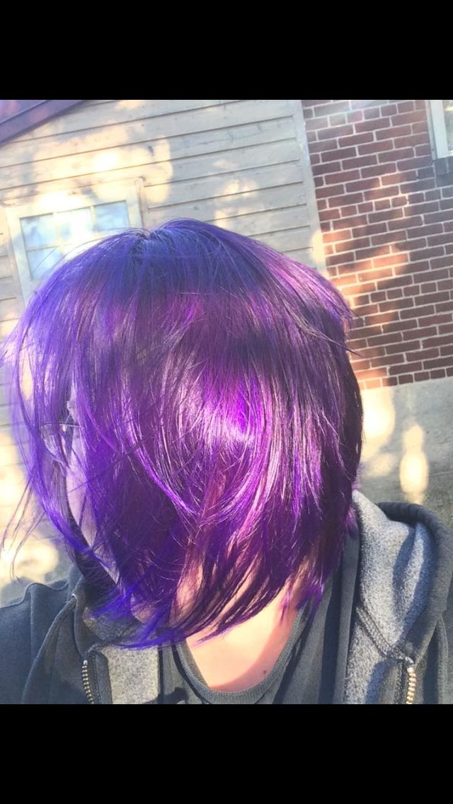My Purple Hair I Use Gentian Violet Mixed With