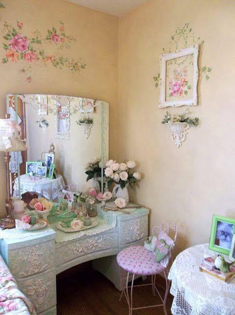 Pin de Mavi Sarrion Asensio en Decorar tu casa Pinterest Tocador - decoracion recamara vintage