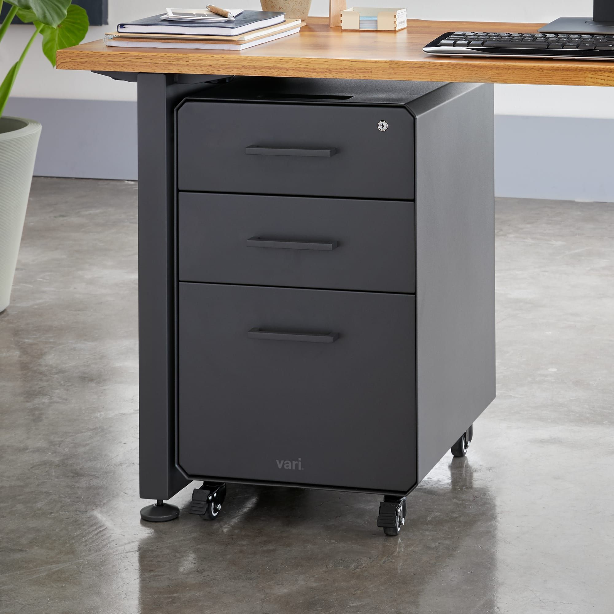 File Cabinet Standing Desk Accessories Vari In 2020 Filing Cabinet Standing Desk Accessories Cabinet