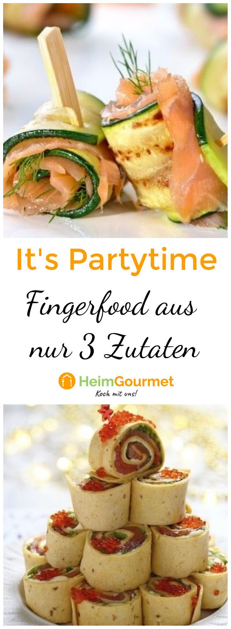 Photo of It's PARTYTIME: 20 smart FINGERFOOD recipes from just 3 ingredients!