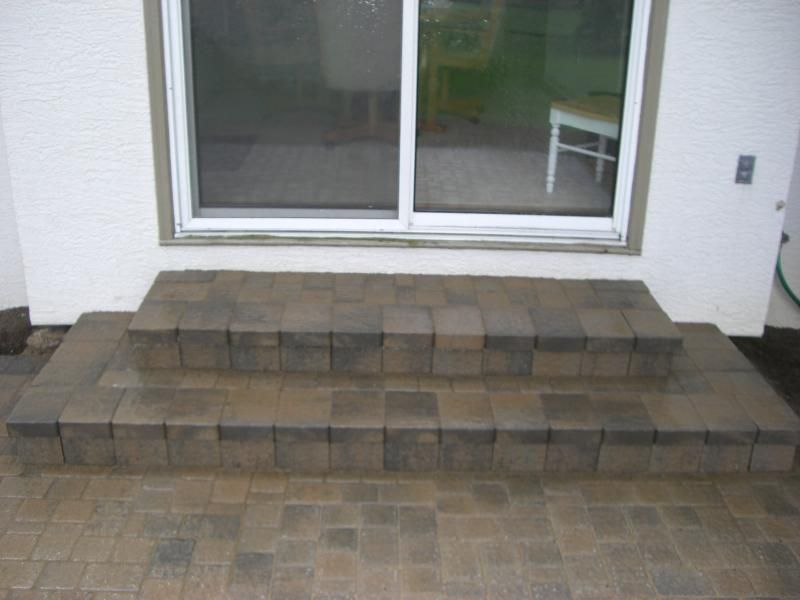 Unilock Paver Wedding Cake Steps