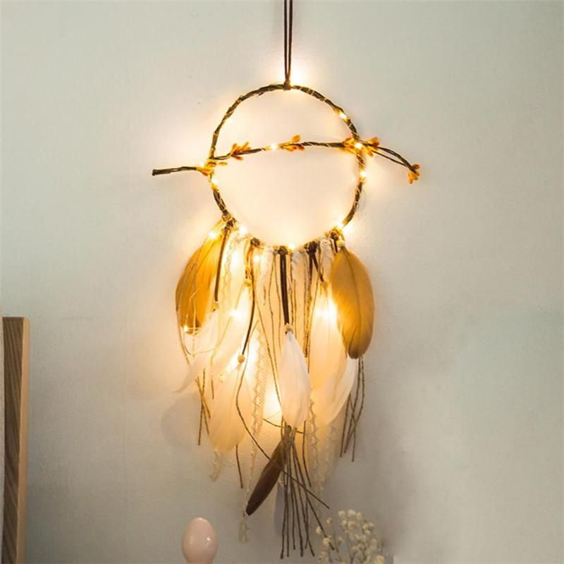 Indian Wasteland - Led Light Feather Dream Catcher #BeckettElliott
