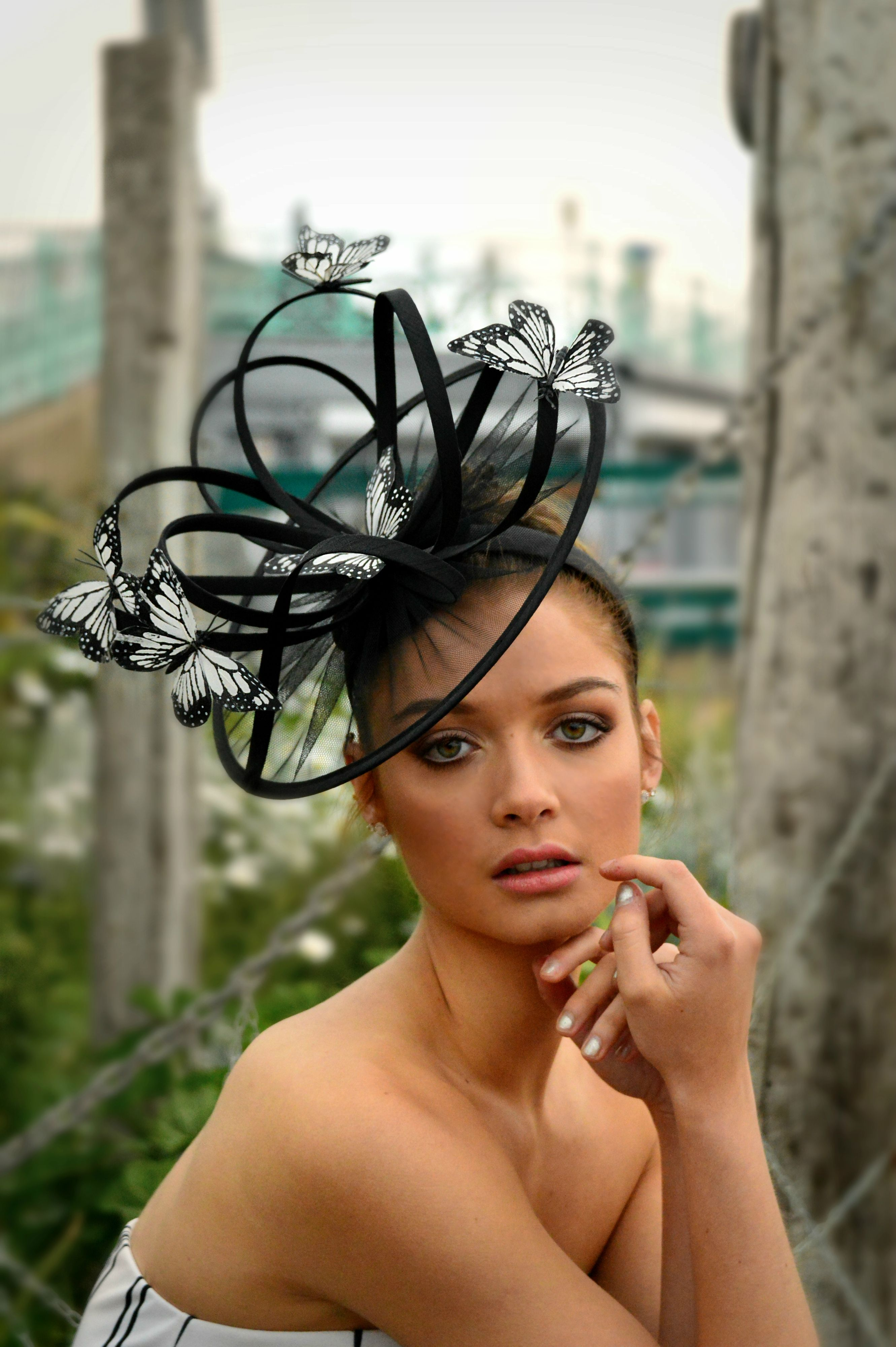 Stunning butterfly fascinator