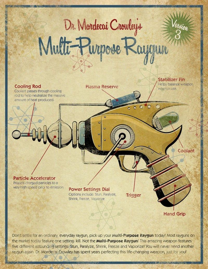 retro ray gun by artist michael murdock [ 800 x 1037 Pixel ]